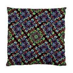 Colorful Floral Collage Pattern Standard Cushion Case (two Sides) by dflcprints