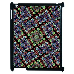 Colorful Floral Collage Pattern Apple Ipad 2 Case (black) by dflcprints