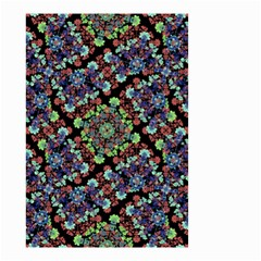 Colorful Floral Collage Pattern Small Garden Flag (two Sides) by dflcprints