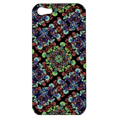 Colorful Floral Collage Pattern Apple Iphone 5 Hardshell Case by dflcprints