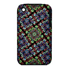 Colorful Floral Collage Pattern Iphone 3s/3gs by dflcprints