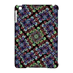 Colorful Floral Collage Pattern Apple Ipad Mini Hardshell Case (compatible With Smart Cover) by dflcprints