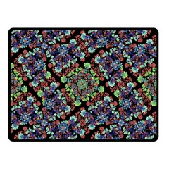 Colorful Floral Collage Pattern Double Sided Fleece Blanket (small)  by dflcprints