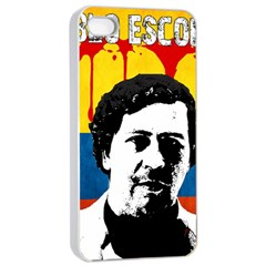 Pablo Escobar Apple Iphone 4/4s Seamless Case (white) by Valentinaart