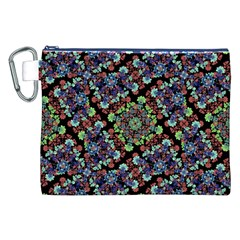 Colorful Floral Collage Pattern Canvas Cosmetic Bag (xxl) by dflcprints