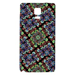 Colorful Floral Collage Pattern Galaxy Note 4 Back Case by dflcprints