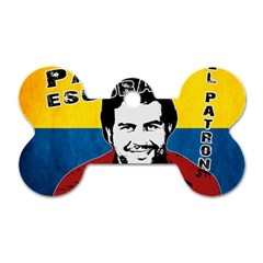 Pablo Escobar Dog Tag Bone (two Sides) by Valentinaart