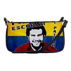 Pablo Escobar Shoulder Clutch Bags by Valentinaart
