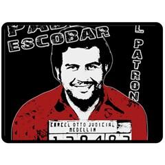 Pablo Escobar Fleece Blanket (large)  by Valentinaart