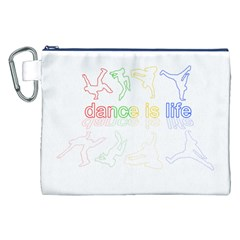 Dance Is Life Canvas Cosmetic Bag (xxl) by Valentinaart
