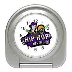 Real Hip Hop Never Die Travel Alarm Clocks by Valentinaart
