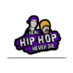 Real Hip Hop Never Die Plate Mats by Valentinaart
