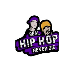 Real Hip Hop Never Die Shower Curtain 48  X 72  (small)  by Valentinaart