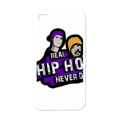 Real Hip Hop Never Die Apple Iphone 4 Case (white) by Valentinaart