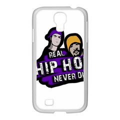 Real Hip Hop Never Die Samsung Galaxy S4 I9500/ I9505 Case (white) by Valentinaart