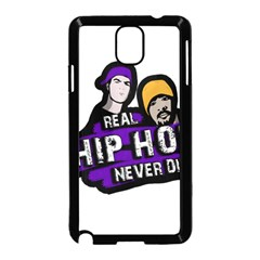 Real Hip Hop Never Die Samsung Galaxy Note 3 Neo Hardshell Case (black) by Valentinaart