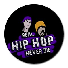 Real Hip Hop Never Die Round Mousepads by Valentinaart