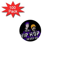 Real Hip Hop Never Die 1  Mini Buttons (100 Pack)  by Valentinaart