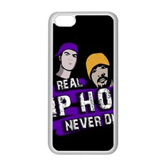 Real Hip Hop Never Die Apple Iphone 5c Seamless Case (white) by Valentinaart