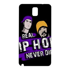 Real Hip Hop Never Die Samsung Galaxy Note 3 N9005 Hardshell Back Case by Valentinaart