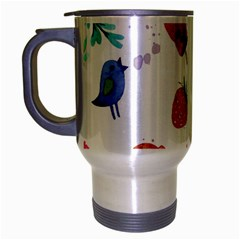 Hand Painted Summer Background  Travel Mug (silver Gray) by TastefulDesigns