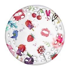 Hand Painted Summer Background  Ornament (round Filigree) by TastefulDesigns