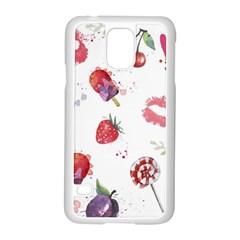 Hand Painted Summer Background  Samsung Galaxy S5 Case (white) by TastefulDesigns