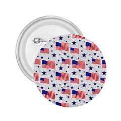 Flag Of The Usa Pattern 2 25  Buttons by EDDArt