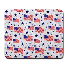 Flag Of The Usa Pattern Large Mousepads by EDDArt