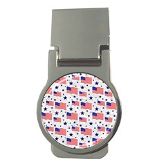 Flag Of The Usa Pattern Money Clips (round)  by EDDArt