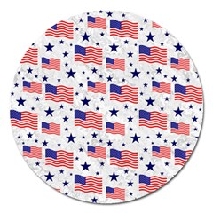 Flag Of The Usa Pattern Magnet 5  (round) by EDDArt