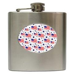 Flag Of The Usa Pattern Hip Flask (6 Oz) by EDDArt