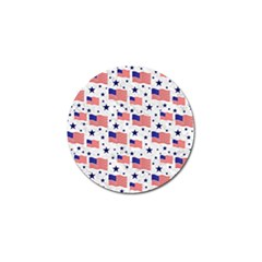 Flag Of The Usa Pattern Golf Ball Marker (10 Pack) by EDDArt