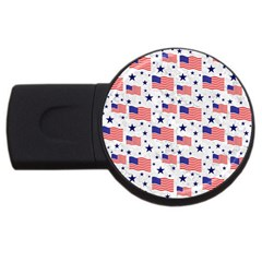 Flag Of The Usa Pattern Usb Flash Drive Round (2 Gb) by EDDArt