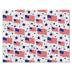 Flag Of The Usa Pattern Rectangular Jigsaw Puzzl by EDDArt