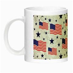 Flag Of The Usa Pattern Night Luminous Mugs by EDDArt