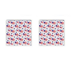 Flag Of The Usa Pattern Cufflinks (square) by EDDArt