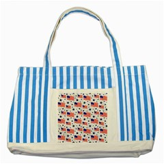Flag Of The Usa Pattern Striped Blue Tote Bag by EDDArt