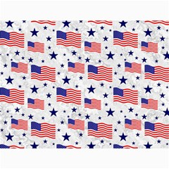 Flag Of The Usa Pattern Canvas 36  X 48   by EDDArt