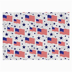 Flag Of The Usa Pattern Large Glasses Cloth by EDDArt
