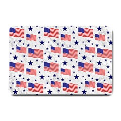 Flag Of The Usa Pattern Small Doormat  by EDDArt