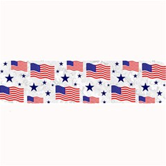 Flag Of The Usa Pattern Large Bar Mats by EDDArt