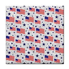 Flag Of The Usa Pattern Face Towel by EDDArt