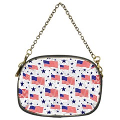 Flag Of The Usa Pattern Chain Purses (two Sides)  by EDDArt
