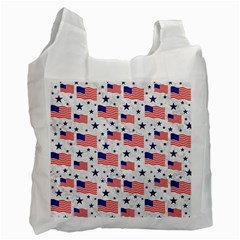 Flag Of The Usa Pattern Recycle Bag (one Side) by EDDArt