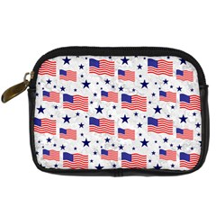 Flag Of The Usa Pattern Digital Camera Cases by EDDArt