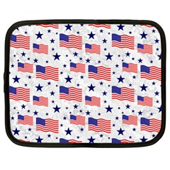 Flag Of The Usa Pattern Netbook Case (xl)  by EDDArt