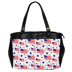 Flag Of The Usa Pattern Office Handbags (2 Sides)  by EDDArt