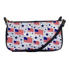 Flag Of The Usa Pattern Shoulder Clutch Bags by EDDArt