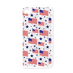 Flag Of The Usa Pattern Apple Iphone 4 Case (white) by EDDArt